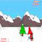 Snowboarding Santa